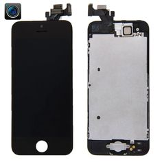 [$22.51] iPartsBuy 4 in 1 for iPhone 5 (Front Camera + LCD + Frame + Touch Pad) Digitizer Assembly(Black)
