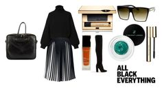 """""""Monochrome: All Black Everything"""" by molly-jones-3 ❤ liked on Polyvore featuring Rumour London, ALDO, Diesel, Clarins, Balenciaga, Vincent Longo and SW Global"""