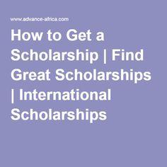 How do you get a scholarship?