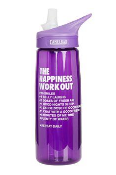 Happiness Water Bottle #lornajane #ljfitlist