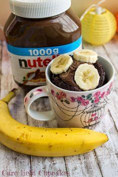 {Rezept} Nutella-Tassenkuchen mit Banane