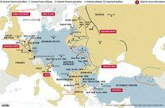 World war one alliances in 1917 world of maps pinterest frontlinien im front lines of world war 1 gumiabroncs Choice Image