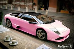 Pink Lamborghini, yummm...its what i need instead of the scion! LOL