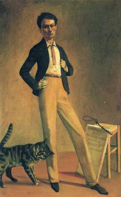 In honor of the mighty Cluzo : Balthus, The King of Cats  (Le roi des chats)   1935 (self-portrait)