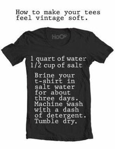 Soften Cotton.  Also, try washing in Coca-Cola instead of everything else to soften denim.  May work on t-shirts.