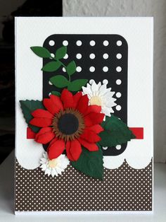 Card flower flowers sizzix tattered florals, Crealies flower die set, memorybox leaf, MFT Layered leaves Die-namics,  MFT Blueprints 22  Die-namics - JKE