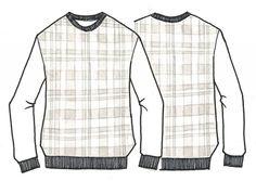 크로스 스웨트 셔츠