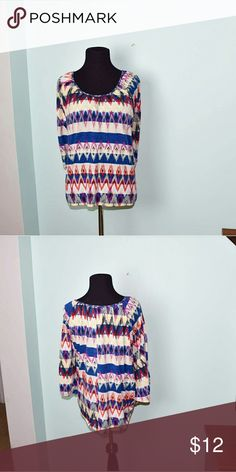 Gorgeous Multi Color Striped Blouse In excellent condition. Beautifully made and very soft.  Buy 3 items, get one free plus 15% off your purchase total! Tops Blouses