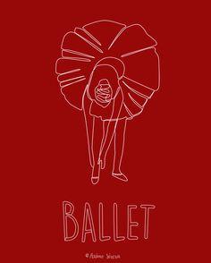 Bailarina hecha con una sola línea.