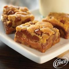 Chocolate Chip Caramel Bars from Crisco®