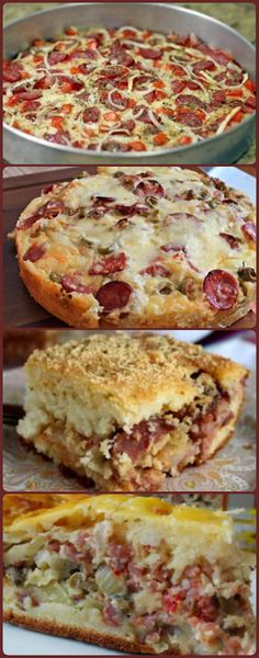 Quiche, Apple Salad Recipes, Good Pizza, Food Hacks, Baked Goods, Carne, Sandwiches, Low Carb, Cooking Recipes