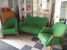 Sofa and armchairs by Ilmari Tapiovaara. Decor, Furniture, Sofa, Home Decor, Vintage Designs, Armchair, Chaise Lounge, Vintage Furniture, Furniture Design