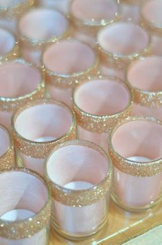 DIY glitter votive holders   we ❤ this!  moncheribridals.com  #DIYwedding
