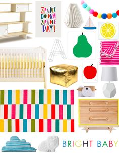 A Lovely Lark: Bright Baby Nursery Design Board + A Giveaway to Hanna Andersson!