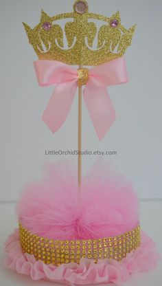 Items similar to Princess Baby Shower/ Princess Birthday/ First Birthday/ Baby/ Its a girl/ Princess party/ Pink and gold/ Centerpieces/ Baby girl shower on Etsy Baby Girl Shower Themes, Baby Shower Table, Girl Themes, Boho Baby Shower, Baby Girl Princess, Baby Shower Princess, Pink Princess, Princess Gifts, Baby Shower Centerpieces