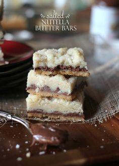 Salted Nutella Butter Bars   www.cookiesandcups.com #cookies #nutella #shortbread #seasalt