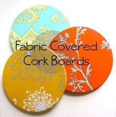 DIY Gift for the Office - Fabric Covered Cork Board - DIY Gift Ideas for Your Boss and Coworkers - Cheap and Quick Presents to Make for Office Parties, Secret Santa Gifts - Cool Mason Jar Ideas, Creative Gift Baskets and Easy Office Christmas Presents http://diyjoy.com/diy-gifts-office