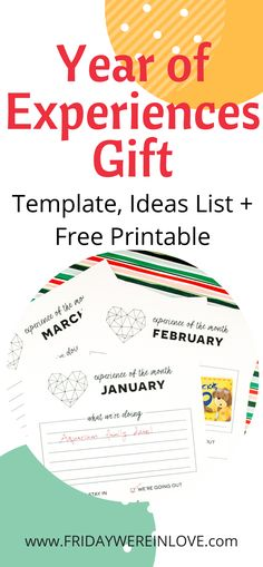 Give the gift of a Year of Experiences! This FREE PRINTABLE includes a template, experience gifts for kids idea list, date night gift ideas, and all the resources you need to gift more memories! Free Christmas Gifts, Christmas Gifts For Husband, Christmas Gift Guide, Gifts For Kids, Free Gifts For Husband, Diy Christmas, Happy Marriage, Marriage Advice, Relationship Advice