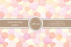 Check out Watercolor Dots Seamless Pattern by pattern pop on Creative Market