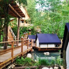 Check out this slideshow Glamping 2.0 in this list The World's Finest Five-Star Camping. Garden Village Bled Bled, Slovenia