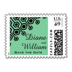Diagonal Geometric Wedding | mint Postage Stamps