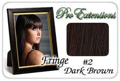 #2 Dark Brown Pro Fringe Clip In Bangs