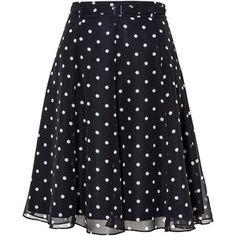 Spot Belted Skirt