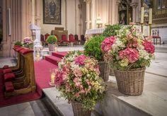 Resultado de imagen de hortensia arreglo para altar