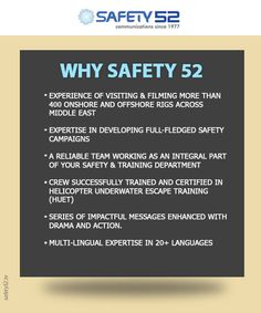 The team assigned with the task of guaranteeing a safe environment for their client's company has a great deal of expertise and they work closely with them as an integral part of their safety and training management team. For more information, please visit goo.gl/spcbxe