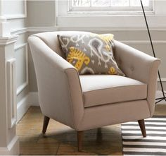 Turner chair in linen natural, by dwell studio, $1092