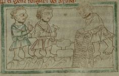 English manuscript, dated showing armor makers holding tools and a… Medieval Life, Medieval Armor, Friedrich Ii, Statues, Trade Books, Illumination Art, Plantagenet, Historical Images, Panzer