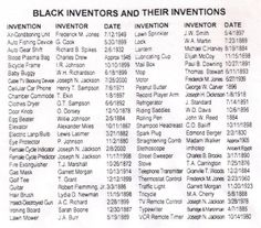 Black Inventors KNOWLEDGE IS POWER. WE CAN BUILD OURSELVES BACK UP TO PROMINENCE AND DOMINANCE.