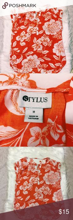 Stylus Hawaiian shirt Perfect condition Hawaiian shirt. No flaws. 100% Rayon. I have a feeling tropical prints will be in this summer! stylus Tops Blouses