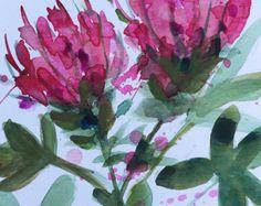 Purple Poppy no. 3 Original Watercolor Painting by prattcreekart