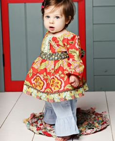 Tomato Peasant and Moon Ruffles from Serendipity #matildajaneclothing  #MJCdreamcloset