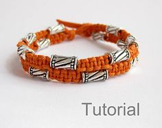 Macrame bracelet instructions pattern pdf tutorial jewelry