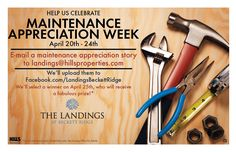 During maintenance appreciation week, LBR sent this out so that residents were able to write in stories about why they love the maintenance staff