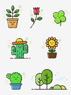 Cactus Ideas for Simple Kitchen Makeovers Article Body: Mini Drawings, Cute Easy Drawings, Kawaii Drawings, Kawaii Doodles, Cute Doodles, Griffonnages Kawaii, Doodles Bonitos, Cactus Vector, Plant Wallpaper
