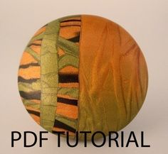 Polymer Clay Tutorial - Modern Mica Bead or Pendant by etsy artist Janice Abarbanel $12.00