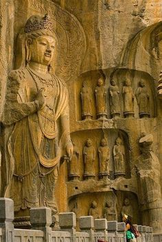 The Longmen Caves or Grottoes, Luoyang, Henan, China