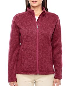 fde3e7c44feaf6 Ladies Full-Zip Sweater Fleece Jacket
