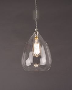 Designer Lighting, Wellington Clear Glass Pendant Light