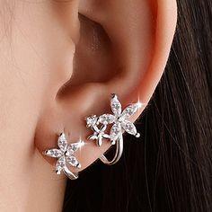 Art Deco Earrings - Statement Earrings/ Dangle Earrings/ Crystal Earrings/ Bridal Earrings/ Bridesmaid Gifts/ Gifts for Her/ Formal Occasion - Fine Jewelry Ideas Tragus Earrings, Moonstone Earrings, Crystal Earrings, Statement Earrings, Dangle Earrings, Jewelry For Her, Body Jewelry, Conch Jewelry, Ear Jewelry