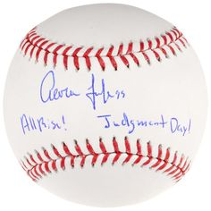 Aaron Judge New York Yankees Fanatics Authentic Autographed Baseball with All Rise and Judgment Day Inscription - Limited Edition of 99