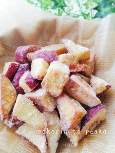 子供が喜ぶ♪簡単!食べやすい*雪の大学芋 Sweets Recipes, Fruit Recipes, Chicken Recipes, Snack Recipes, Cooking Recipes, Snacks, Czech Recipes, Love Eat, Cafe Food