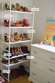 how to organize your shoes via Advice From A Twenty Something #organization #shoes
