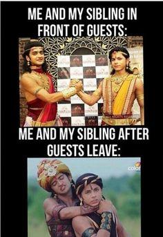 Funny Friend Memes, Funny Kid Memes, Some Funny Jokes, Funny Kids, Hilarious, Baby Krishna, Cute Krishna, Radha Rani, Krishna Radha