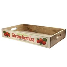 Vintage Rustic Wooden Tray Strawberries Craft Wedding Ideas
