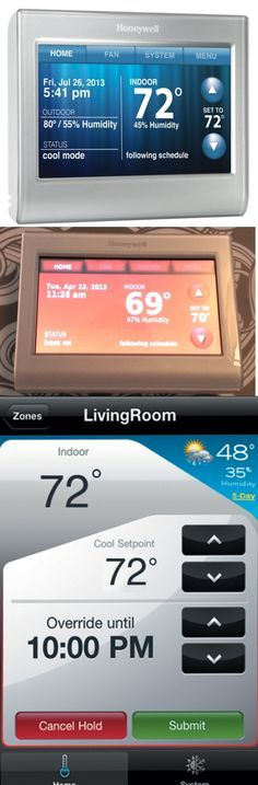 The Honeywell Wi-Fi Smart Thermostat connects to your existing thermostat wires but gives you a raft a of high-tech features like the ability to adjust your home heating and cooling systems from your smartphone. Once connected to your home network, the Wi-Fi Smart Thermostat can show indoor and outdoor temperatures and can even display a multi-day weather forecast. Don't like the color of the touch screen? Go ahead, change it. Coming in May. $249