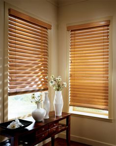 This looks just like what I've been looking for! My office at home needs new blinds for the window, and nothing has been looking good because the room is painted a similar color to this. These wooden blinds would go perfect with it!